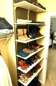 Shoe Rack For Closet Door Shoe Shelves Closet Patternd Me