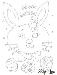 cute easter coloring page skip to my lou