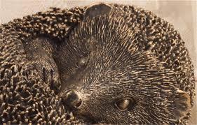 handmade retro hedgehog sculpture small resin
