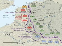 map of rouen german 1918 offensives map nzhistory new zealand history