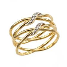 fashion long rings images Rings ladies 39 10k yellow gold diamond accented double quot x quot criss jpg