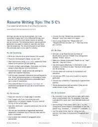 effective resumes tips free resume writing tips
