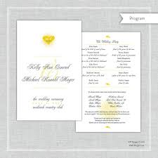 custom wedding programs custom wedding program program reception wedding program