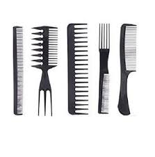 tooth comb 5 pcs salon style comb assorted hairdressing set brush wide tooth