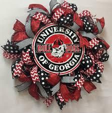 uga wreath georgia bulldog wreath uga decor uga deco mesh