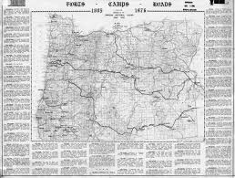 Oregon Map Us by Oregon Military History Forts Camps Roads Fortwiki Historic