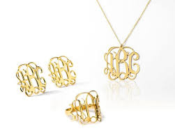 Gold Plated Monogram Necklace 16531 Best Jewelry Images On Pinterest Handmade Jewelry