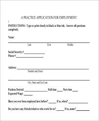 simple printable job application template practice job application job application forms to print esl basic