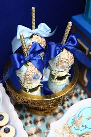 royal prince baby shower ideas royal prince baby shower cakepops in gold and royal blue baby