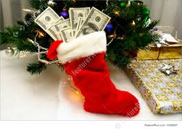 christmas stocking full of cash stock picture i1560657 at featurepics