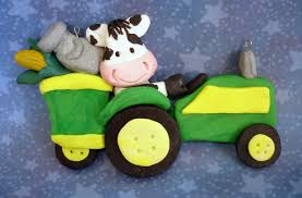 dairy cow christmas ornament tractor wagon holstein milk can