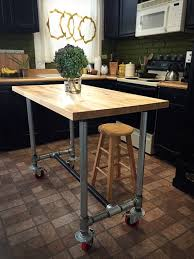 kitchen islands on casters kitchen island butcher block on galvanized pipe with casters