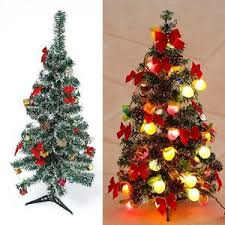 3 ft tabletop pre lit tree battery operated berries and