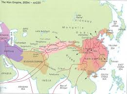 asian continent during the time of the empire han dynasty
