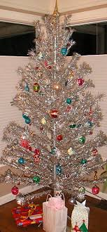 vintage aluminum tree and we had a color wheel that shined