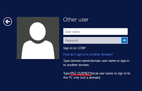 Log In How To Login With A Local Account Instead Of Domain Account