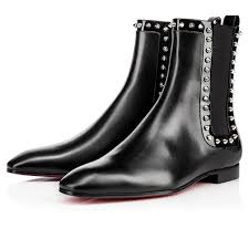 christian louboutin marianne calf leather black silver cheap