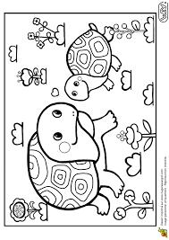 Coloriage Maman et Bébé Tortues