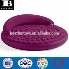 Round Sofa Bed by Outdoor Inflatable Furniture Flocked Double Inflatable Air Round