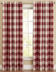 courtyard plaid check curtain panel black lorraine home