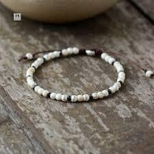 boho bracelet mens beaded bracelet 4mm turquoise simple shamballa