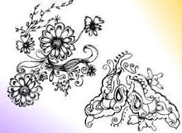 sketchy decorative floral ornament brushes decorative photoshop