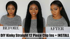 hair clip ins diy weft clip ins how to install clip ins