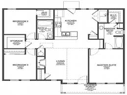 free 3 bedrooms house design and lay out within small house plans
