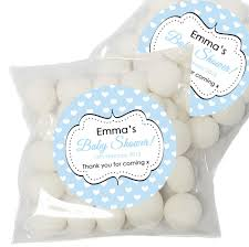personalised baby shower favours stickers labels baby shower lip