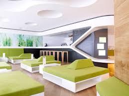 interior unique restaurant design ideas with white theme complete