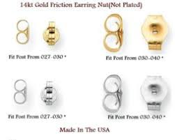gold earring backs 14k on earring backs anaporium