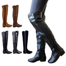 womens boots size 9 wide calf womens wide leg calf stretch knee thigh high flat