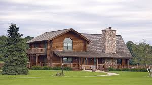 Home Design 1 1 2 Story Log Home Design Plan And Kits For South Fork