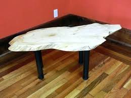 live edge round table live edge round coffee table sycamore coff moneyfit co