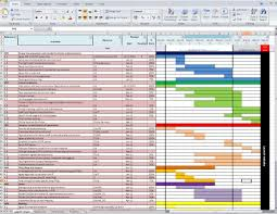 Monthly Gantt Chart Excel Template Gantt Charts Libwebrarian S