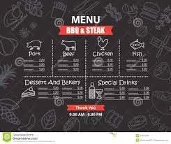 bbq restaurant menu design stock vector image 68285098