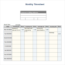 Free Timesheet Template Excel Monthly Timesheet Template 15 Free Documents In Pdf Word