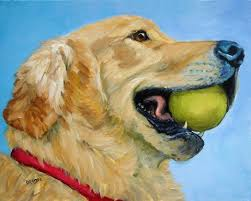 dog paintings and cat and other animals by dottie dracos golden