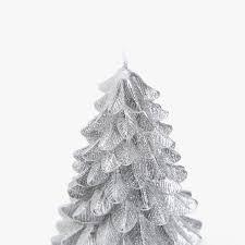 silver fir tree shaped candle christmas decoration zara home