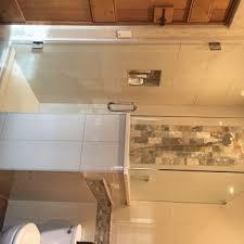 Custom Shower Door Glass Frameless 90 Degree Shower Door Glass Accents