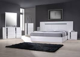 Contemporary Italian Bedroom Furniture And Made In Spain Leather - White leather contemporary bedroom furniture