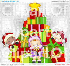 royalty free rf clipart illustration of diverse christmas kids