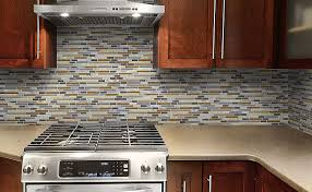 Rusty Brown Slate Mosaic Backsplash by Glass And Stone Backsplash Tile