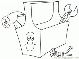 Construction Tools Coloring Pages Construction Coloring Page Free Tools Coloring Page