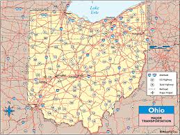map of ohio ohio transportation map by maps from maps world s