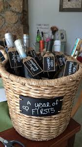 bridal shower gift baskets a year of firsts great bridal shower present by just me123