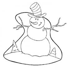 coloring pages winter snowman with big hat winter coloring pages