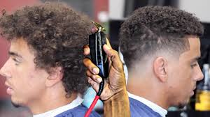 haircut tutorial transformation curly top blurry fade youtube