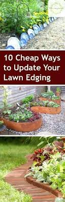 Garden Lawn Edging Ideas Garden Separators Cheap Garden Edging Ideas Garden Wall Dividers