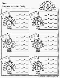 thanksgiving math worksheet fact family free download firstgradefaculty com pinterest